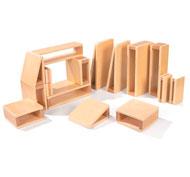 Grandes bloques de construcción huecos lote de 16