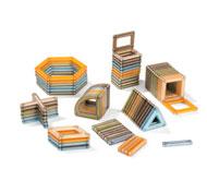 Juego de construcción magnético power clix classics natural 74 piezas lote de 74