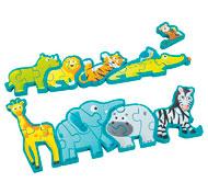 Puzzle alfabeto los animales la unidad