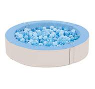 Piscina de bolas el jacuzzi basic con bolas el conjunto
