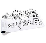 Pentagrama musical magnético el conjunto