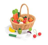 Cesta con 24 frutas y legumbres el conjunto