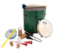 Conjunto de 9 instrumentos iniciación a la música brasileña
