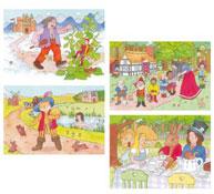 Lote 4 puzzles los cuentos 2