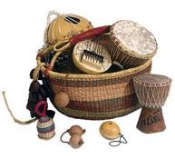 Cesta africana (8 instrumentos)